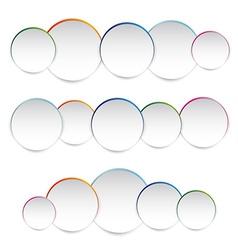 white paper round vector image