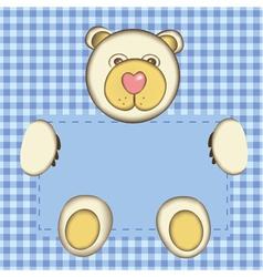 bear for baby boy vector image vector image