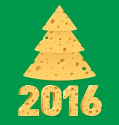 Cheese new year symbols vector image vector image