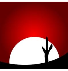 Desert sunset vector image