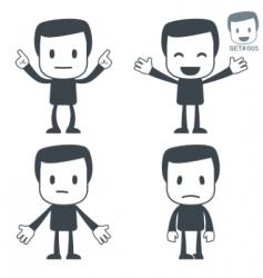 emotions icon man vector image