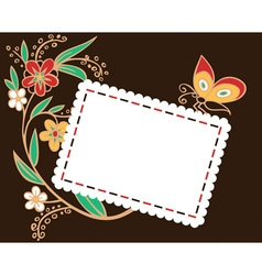 envelope for holiday with flowers vector image