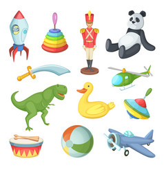 Funny cartoon toys for vector
