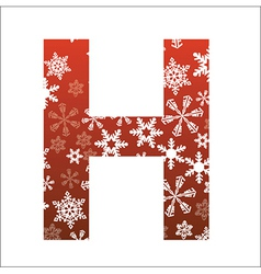 H Letter vector image vector image