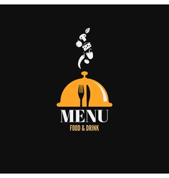 menu design food drink dishes concept vector image vector image