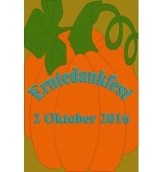 Party invitation design German text Erntedankfest vector image