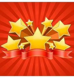 Red Stars Burst Background vector image vector image