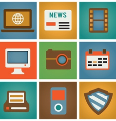Retro social media icons for design vector image vector image