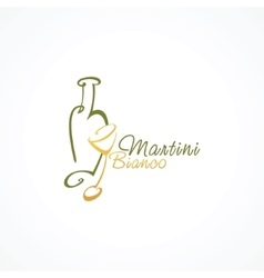 stylized icon Martini Bianco vector image
