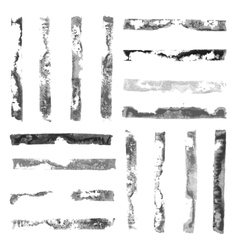 Black and White rectangular paint stamps vector image vector image
