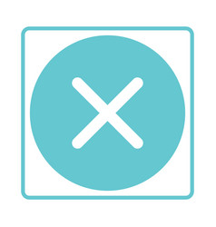 check mark buttons no reject negativity vector image