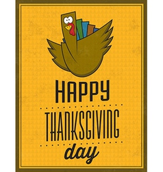 Happy Thanksgiving Day Vintage Typographic Poster vector image