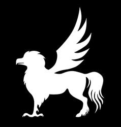 Hippogriff black vector