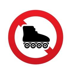 No Roller skates sign icon Rollerblades symbol vector image