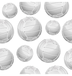 Volley Balls Seamless Pattern vector image vector image