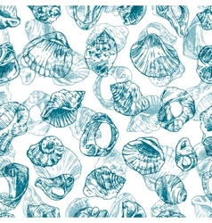 with sea shells vector image