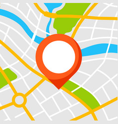 Abstract city map background with marker vector