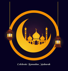 Abstract ramadan kareem islamic festival vector