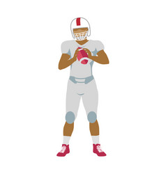 american football player in equipment with ball vector image