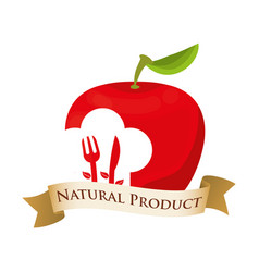 apple nutrition food natural product vector image