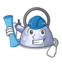 architect steel whistling kettle character to make vector image