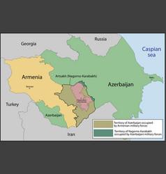 Artsakh or republic nagorno-karabakh vector