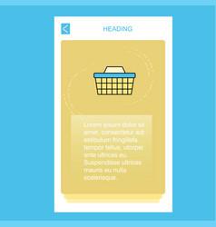basket mobile vertical banner design design vector image