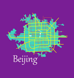 Beijing city map flat vector