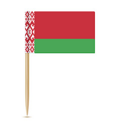 Belarus flag toothpick 10eps vector