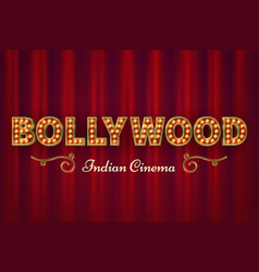bollywood cinema poster vintage indian classic vector image
