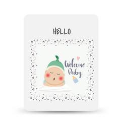 Congratulations new bacard drawnbacard vector
