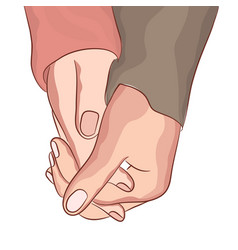 couple hand holding relationship symbol of vector image