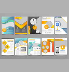 Cover design annual report template of vector