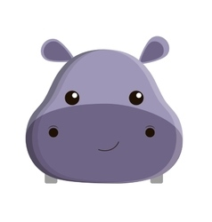 Cute hippopotamus isolated icon vector
