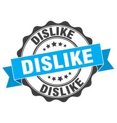 Dislike stamp sign seal vector