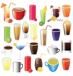 Drinks set vector