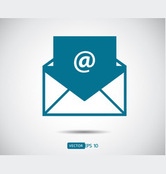 Envelope mail icon flat design style direct vector
