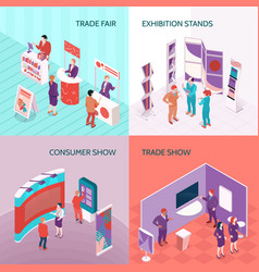 Exhibition stands 2x2 design concept vector
