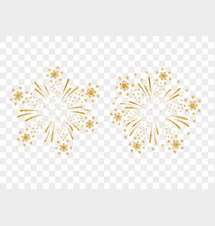 firework gold isolated vector image