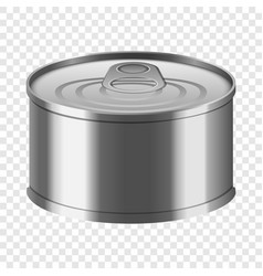 Fish tin can mockup realistic style vector