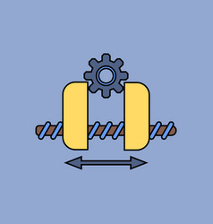 flat icon design collection gears and wheels vector image