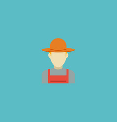 flat icon farmer element of vector image
