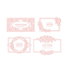 floral frame with copy space for text in trendy vector image