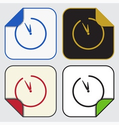 four square sticky icons - last minute clock vector image