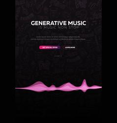 Generative music music created ai vector