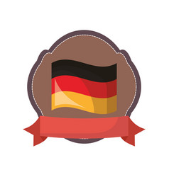 germany flag national emblem banner vector image