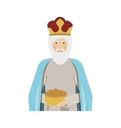 Half body figure human a wise man gaspar vector