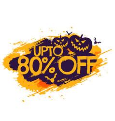 halloween discount sale poster vector image