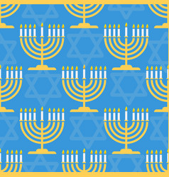 hanukkah seamless pattern background with vector image
