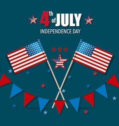 Happy independence day card 4th of July vector image